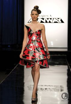 Prom Dress made with Duct tape!!     From: Project Runway...Episode 7  http://www.oliobymarilyn.com/search/label/Project%20Runway