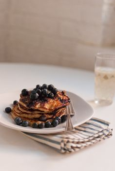 Gluten-Free Blueberry Lemon Yogurt Pancakes ... because good pancakes are like band-aids for the soul.