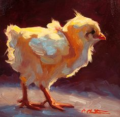 Sassy Chick von Cheri Christensen Oil ~ 6 x 5 – Malerei – Animals Chicken Painting, Chicken Art, Art And Illustration, Illustrations, Painting Inspiration, Art Inspo, Oil Painting Techniques, Oil Painting Tips, Painting Trees