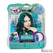 Channel your inner mermaid with the Mermaid Insta Costume Beauty Kit by Fashion Angels. This kit comes with all the essentials needed to take your mermaid costume from drab to fab! Green Hair Colors, Hair Color Blue, Blue Hair, Mermaid Makeup, Mermaid Hair, Mermaid Style, Hair Kit, Fashion Angels, Temporary Hair Color