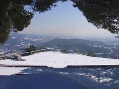Zona de vol del Cim d'Àligues nevada! a Sant Feliu de Codines (Barcelona)