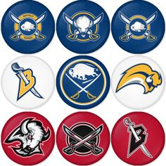 "Buffalo Sabres NHL 1.75"" Badges Pinbacks, Mirror, Magnet, Bottle Opener Keychain http://www.amazon.com/gp/product/B00CKGIVOO"