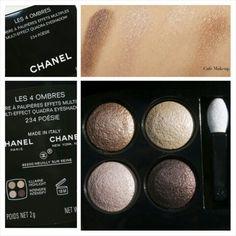 Chanel Poesie 4-Color Eyeshadow Quad (photos by Cafe Makeup blog) Cafe Makeup, Makeup Blog, Paris New York, Chanel, Quad, Eyeshadow, Photos, Color, Eye Shadow