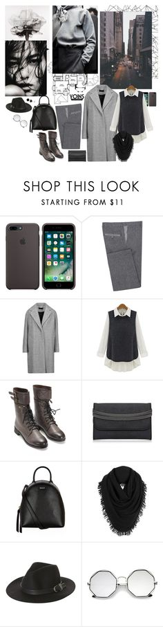 """""""In These Shadows ~YoIns~"""" by mariettamyan ❤ liked on Polyvore featuring GUESS, Diverso, rag & bone, DKNY, White + Warren, Rusty, yoins, yoinscollection and loveyoins"""