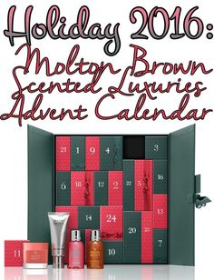 Contents of the Molton Brown Scented Luxuries Advent Calendar for Holiday 2016. Ships worldwide.