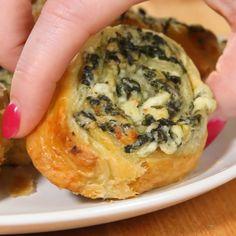 Recipe: http://getinmybelly.com/creamy-spinach-roll-ups/