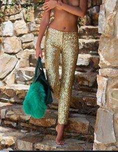 gold pant/skin