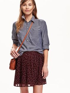 Women's Classic Patterned Oxford Shirts Product Image