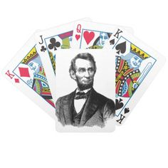 """Abraham Lincoln 1865 """"The great emancipator"""" Bicycle Playing Cards"""