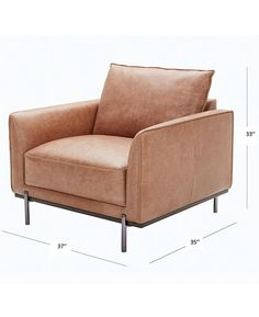 Furniture Marsilla 39 Quot Leather Armchair Created For Macy
