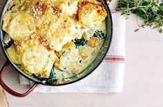 Smoked haddock and potato gratin