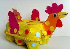 Kip van eierdoos