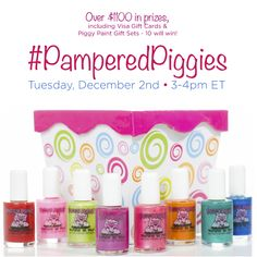 #PamperedPiggies Twitter Party December 2 from 3-4pm EST. Prizes! RSVP! #ad #cbias