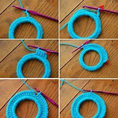 Patrones Crochet: Como hacer Marcos de Fotos de Crochet con Aros