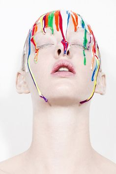 For these makeup artists and photographers, it's all about random splashes of color or perfectly drawn drops.