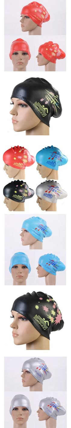 28f8be38006 Gojoy Women swimming caps Silicone Long Hair Girls Waterproof Swimming Cap  swim hat for Lady With