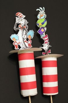 Dr. Suess craft projects | 23. Dr. Seuss Cat in the Hat Craft {Kids Crafts} ~ Celebrate Dr. Seuss ...