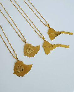E T H I O P I A || E R I T R E A  - £20/€24/ $28 . . . . . . #ethiopia #eritrea #necklace #map #unisex #habesha #africa #african #habeshastyle #habeshasmakingmoves #jewellery #jewelry #fashion #accessories #eritrean #ethiopian #eritreans #ethiopians #habeshaskillingit #eastafrica #hornofafrica