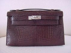#Hermes MATTE Havanne Kelly Pochette Clutch. A beauty :) available mightykismet ebay SOLD