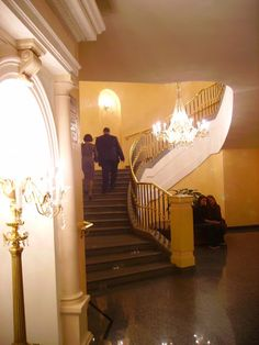 Lateral stairs of Boshoï Teatre (Novaïa Zala not the Historic Building that has been revamped last year) in Moscou