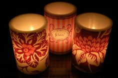 Gorgeous wax shades for candles - around $35