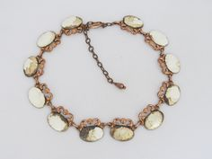 Vintage Matisse Renoir Copper & Silver Necklace 17'' Length by wandajewelry2013 on Etsy