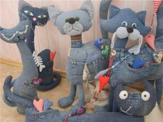 Детские игрушки из старых джинсов