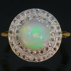 Trendy Diamond Rings : Antique opal engagement ring diamonds gold by adinantiquejewellery, love the des. - Buy Me Diamond Opal Rings, Diamond Rings, Diamond Engagement Rings, Bling Bling, Victorian Engagement Rings, My Birthstone, Birthstone Pendant, Diamonds And Gold, Opal Jewelry