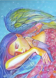 ♡ This is so beautiful ♡ Original watercolor painting Sleeping Angel by Tatiana Oles Angels Touch, Entertaining Angels, I Believe In Angels, Angel Pictures, Angel Images, Angels Among Us, Angels In Heaven, Guardian Angels, Angel Art