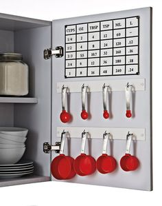 Use The Inside Of Your Cabinet Doors To Organize Your Kitchen