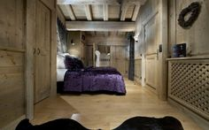 chambre à coucher en bois déco