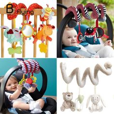 Cute Infant Babyplay Activity Spiral Bed & Stroller Toy Set Hanging Bell Crib Rattle Toys For Baby