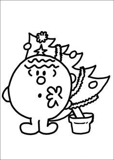Mr. Men Tegninger til Farvelægning. Printbare Farvelægning for børn. Tegninger til udskriv og farve nº 50