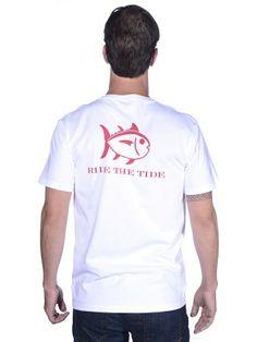 Southern Tide Men's St. Bernard Sports Exclusive Ride the Tide T-shirt