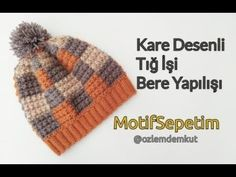 Crochet Kids Hats, Crochet Poncho, Crochet Beanie, Crochet Baby, Knitted Hats, Baby Knitting Patterns, Knitting Designs, Hat And Scarf Sets, Crochet Videos