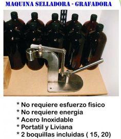 MAQUINA GRAFADORA/CRIMPADORA MANUAL , para sellar  envases de perfume
