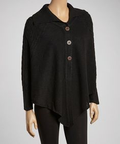 Take a look at this Black Handkerchief Cardigan by jon & anna on #zulily today!