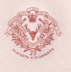 C1900 78TH FOOT SEAFORTH HIGHLANDERS ROSS SHIRE PAPER EMBOSSED LETTERHEAD CREST | eBay