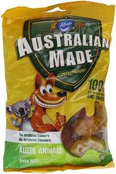 Australian Made Aussie Animals Confectionery (Pack of 6)
