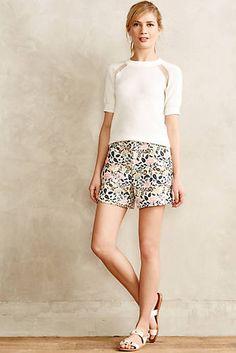 Floral Jacquard Shorts| Anthropologie