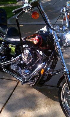 The only color a Harley should be, Black & Chrome.