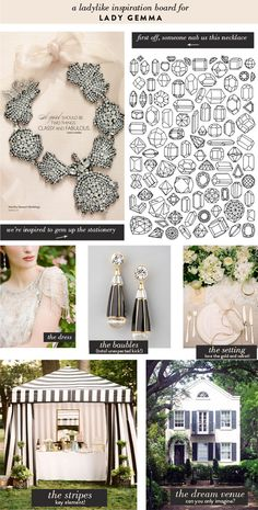 Lady Gemma | Blush & Black Inspiration  using certain elements, the necklace with your Vera