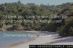 Chimamanda Ngozi Adichie | HOME SWEET WORLD