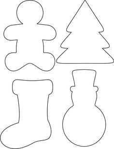 New Craft Felt Christmas Templates Ideas Felt Christmas Decorations, Felt Christmas Ornaments, Christmas Projects, Christmas Holidays, Christmas Cookies, Christmas Biscuits, Christmas Stockings, Christmas Ornament Template, Christmas Templates