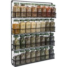 Sorbus 4 Tier Black Wall Mounted Spice Rack Storage