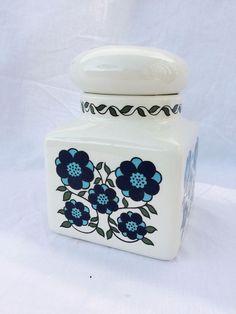 Vintage Retro Flower Power Blue Daisy Taunton Vale Medium Storage Jar In  Collectables, Kitchenalia, Storage Jars/ Containers