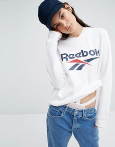 Image 1 of Reebok Classics Vector Sweatshirt In White