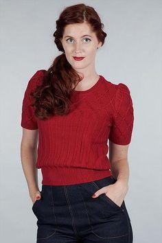 Hepcat knit top, Rød