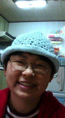 網走 按鍼堂:仔狸ロッキーチャックのブログ-201207162110.jpg 患者さんに頂いた手編みも帽子