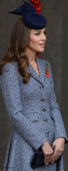 Elegance!! The Cambridge's Royal Tour-Day 16, Canberra, Australia, April 25, 2014-The Duchess of Cambridge on Anzac Day.
